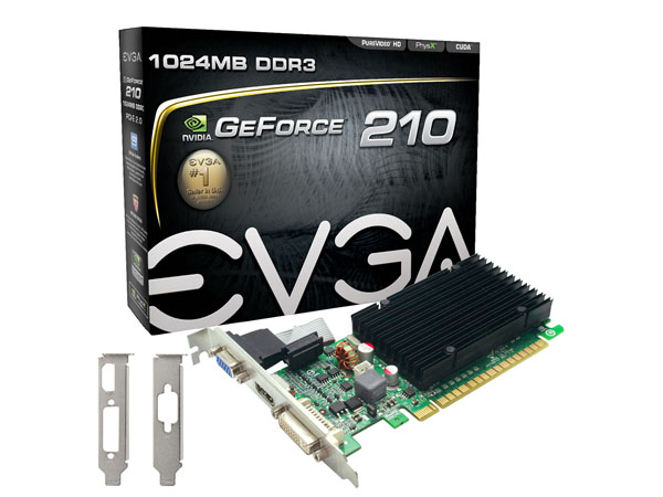 PLACA DE VIDEO EVGA PCIE GT 210 1GB DDR3