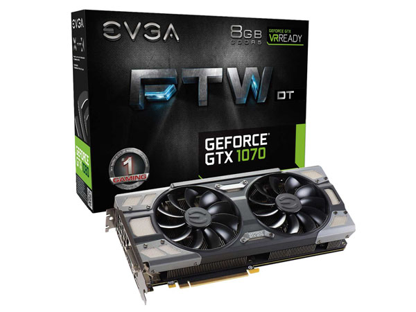 PLACA DE VIDEO EVGA PCIE GTX 1070 8GB GDDR5 FTW DT