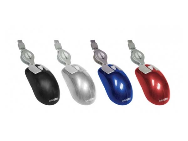 MOUSE MINI A-11S  USB 800DPI SILVER SAT