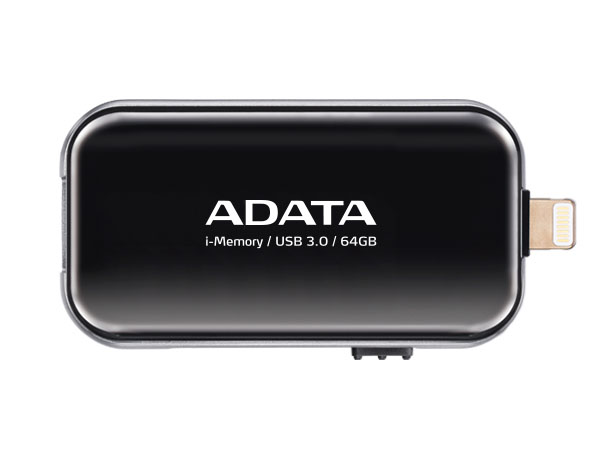 MEMORIA FLASH DRIVE PARA APPLE 64GB (NEGRO) ADATA